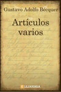 Artículos varios de Gustavo Adolfo Bécquer