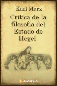 Crítica de la Filosofía del Estado de Hegel de Marx, Karl