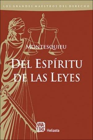 El espíritu de las leyes de Montesquieu
